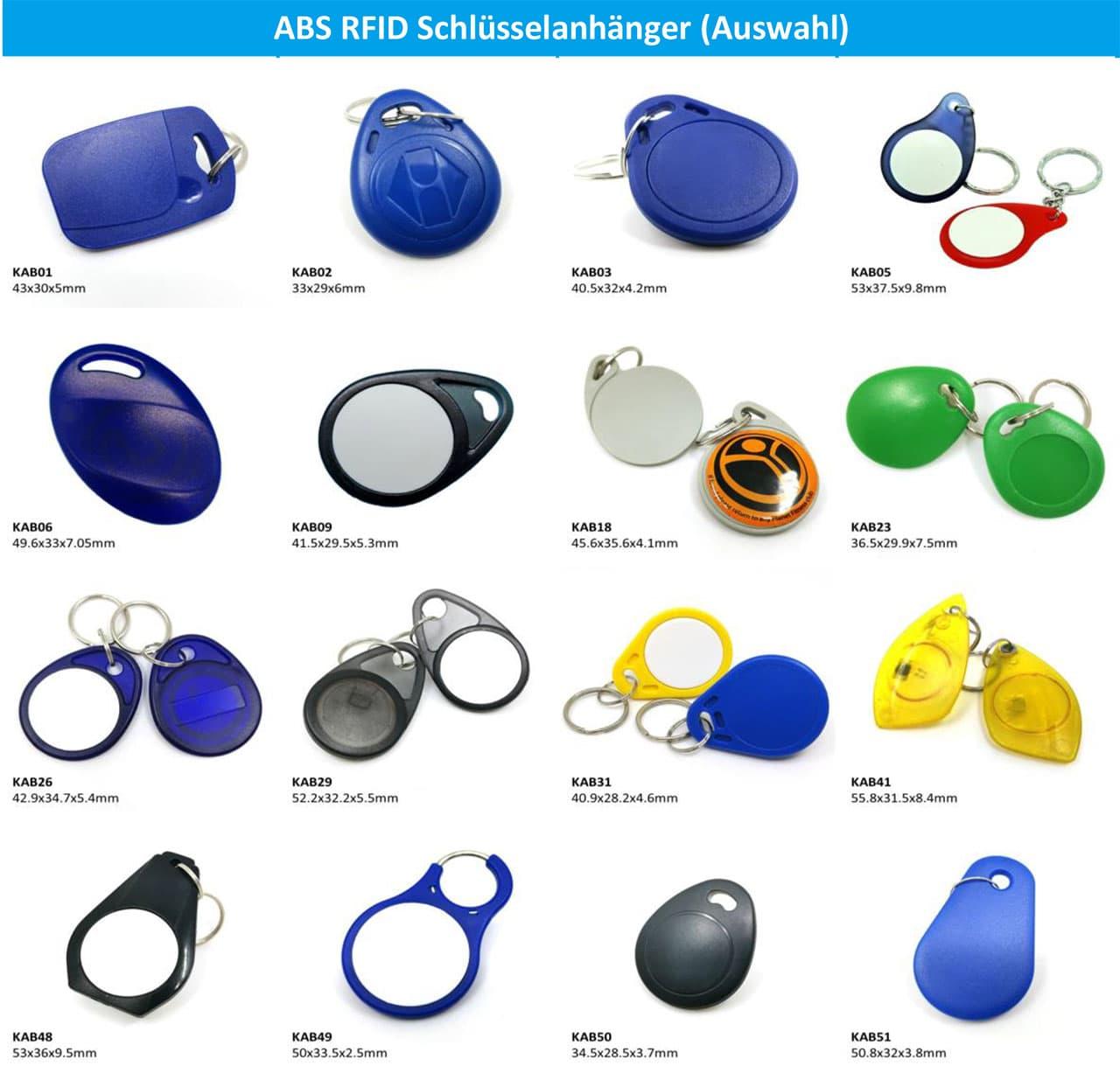 ABS RFID Schlüsselanhänger (Auswahl)