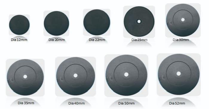 Dimension des RFID Industrielle Token (Auswahl)
