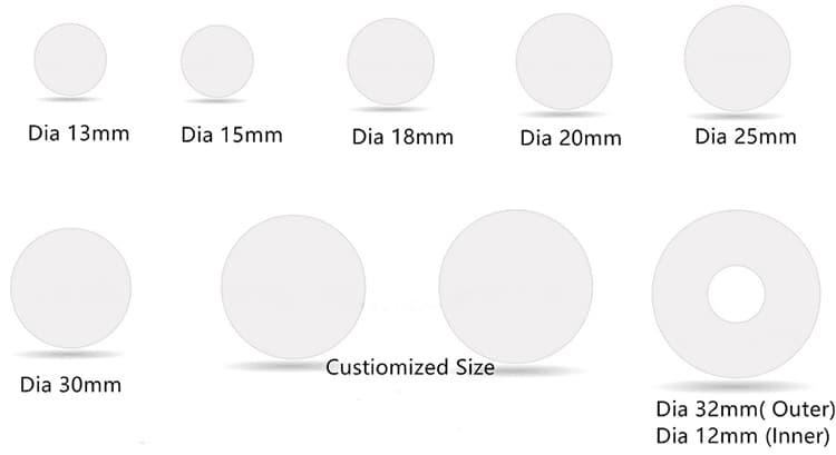 Dimension-des-RFID-PVC-Disc-Tag