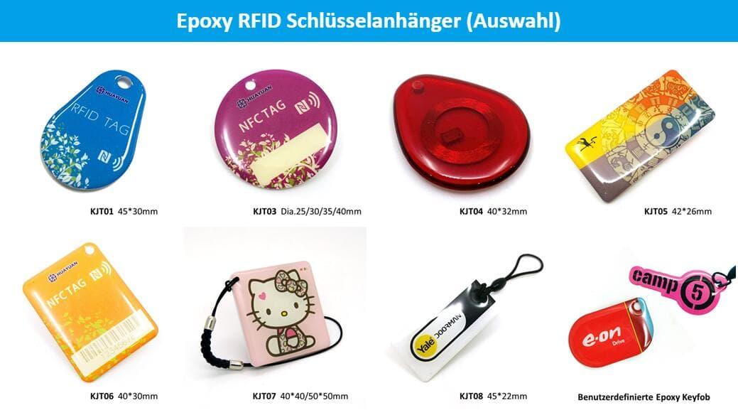 Epoxy RFID Schlüsselanhänger (Auswahl)