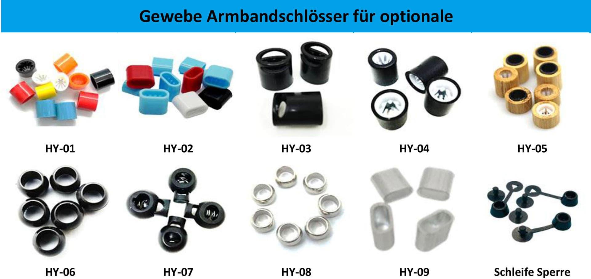 Gewebe Armbandschlösser für optionale