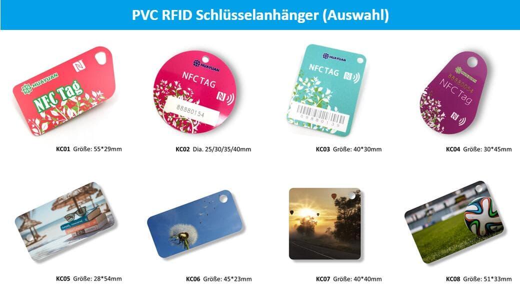 PVC RFID Schlüsselanhänger (Auswahl)