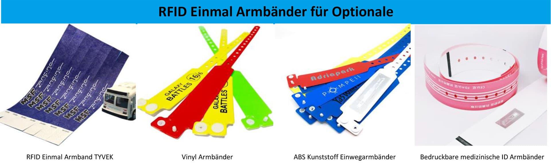 RFID Einmal Armbänder für Optionale