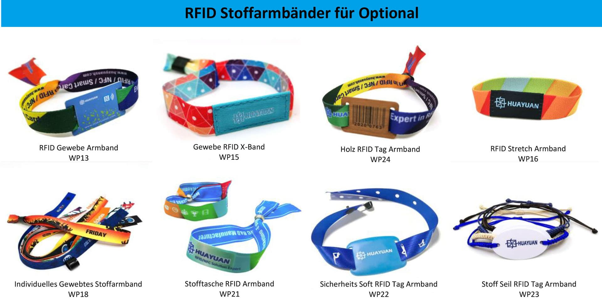 RFID Stoffarmbänder für optional