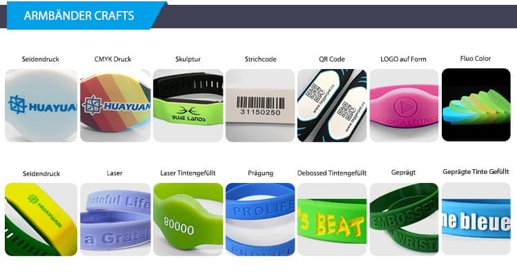 Silikon-Armbänder-Crafts-HUAYUAN-Tech-GmbH