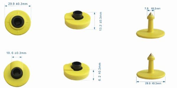 Abmessungen-der-LF-Tier-RFID-Ohrmarke