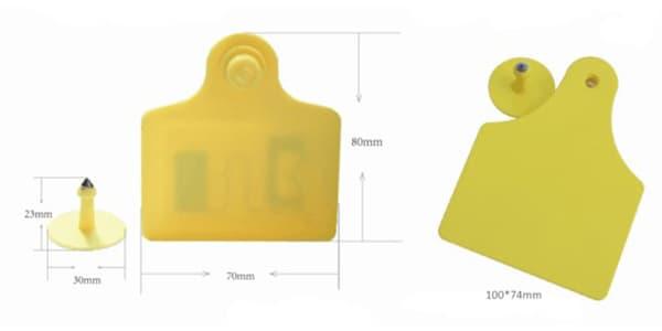 Abmessungen-der-UHF-Tier-RFID-Ohrmarke