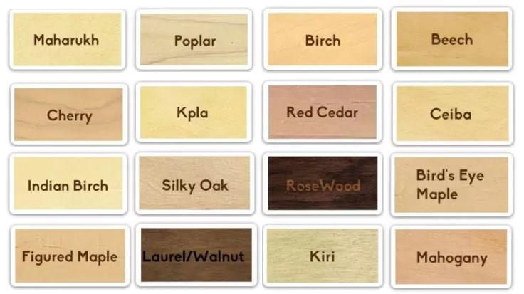 verschiedene Holzmaterialien von rfid-Karten aus Holz für optionale